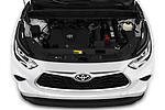 Car stock 2020 Toyota Highlander LE 5 Door SUV engine high angle detail view