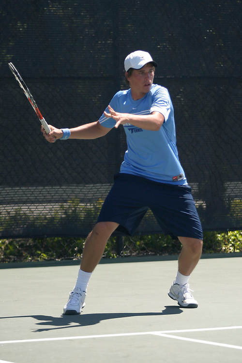 SAN DIEGO, CA - APRIL 19:  Nikola Bubnic of the USD Toreros after day three of the West Coast Conference Tennis Championships on April 19, 2009 at the Barnes Tennis Center in San Diego, California.