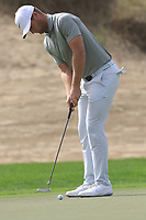 Lucas Bjerregaard (DEN) on the 3rd during Round 1 of the Omega Dubai Desert Classic, Emirates Golf Club, Dubai,  United Arab Emirates. 24/01/2019<br /> Picture: Golffile | Thos Caffrey<br /> <br /> <br /> All photo usage must carry mandatory copyright credit (&copy; Golffile | Thos Caffrey)
