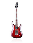 Red Ibanez S-series S420 electric guitar isolated on white background
