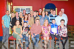 SURPRISE BIRTHDAY: Denis O'Keeffe, Castlewood Park, Tralee (seated centre) got a big surprise when family and friends gathered to celebrate his 40th at the Munster bar, Tralee on Saturday.
