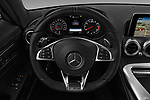 Car pictures of steering wheel view of a 2017 Mercedes Benz AMG-GT - 3 Door Coupe Steering Wheel