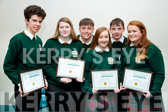 Killorglin Community College students, pictured at the Kerry Education and Training Board student awards night, at the Institute of Technology, Tralee on Friday night last, were l-r: Timothy McGrath, Sarah O'Shea Cian Naylor, Sinead Horgan Sinead Roche and Jack Nagle.