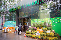The Whole Foods Market in the New York neighborhood of Tribeca on Saturday, October 8, 2016.  Media is reporting the Kroger is considering a takeover of Whole Foods Market. (© Richard B. Levine)