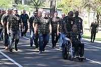 CAMPINAS, SP 12.07.2019 - EXERCITO - Foi comemorado nesta sexta-feira (12) o aniversário de 65 anos do Batalhão Cidade de Campinas e 63 anos do 2º Batalhão Logísitico Leve, na cidade de Campinas (SP), junto foi realizado o Encontro de Antigos Integrantes, do 5º G Can 90 AAe, 2º B Log e 2º B Log L., contando com a presença de autoridades civis e militares e entrega de diplomas Amigo do Batalhão. (Foto: Denny Cesare/Código19)