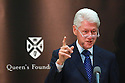 HAND OUT PHOTO: President Bill Clinton delivers the inaugural William J. Clinton Leadership Lecture at Queen's University Belfast, Northern Ireland, Wednesday March 5, 2014.  Photo/Paul McErlane