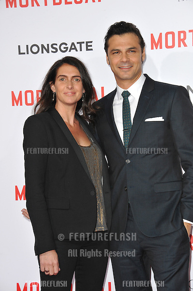 Jonny Pasvolsky &amp; Carolyn Pasvolsky at the Los Angeles premiere of his movie &quot;Mortdecai&quot; at the TCL Chinese Theatre, Hollywood.<br /> January 21, 2015  Los Angeles, CA<br /> Picture: Paul Smith / Featureflash