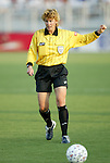 4 July 2003: Referee Sandra Hunt. The Carolina Courage defeated the Atlanta Beat 3-2 at SAS Stadium in Cary, NC in a regular season WUSA game.
