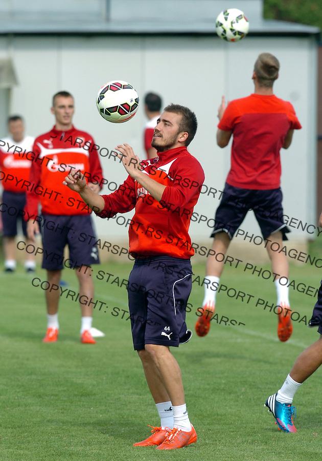 FUDBAL - PRIPREME - CRVENA ZVEZDA - TRENING - Nenad Gavric fudbaler Crvene Zvezde na treningu.<br /> Brezice, 18.06.2015.<br />                              foto:N.Skenderija