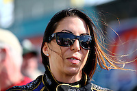 Mar 16, 2014; Gainesville, FL, USA; NHRA funny car driver Alexis DeJoria during the Gatornationals at Gainesville Raceway Mandatory Credit: Mark J. Rebilas-USA TODAY Sports