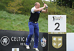 Englands Mike Tindall jumps in frustration after topping his ball ..Celebrity Cup at Golf Live  - Celtic Manor Resort - Friday 10th  May  2013 - Newport ..© www.sportingwales.com- PLEASE CREDIT IAN COOK