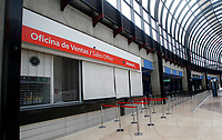 RIONEGRO, COLOMBIA - MAY 12: The Avianca airline counter is see closed at the José María Córdoba International Airport on May 12, 2020 in Rionegro. Avianca filed for bankruptcy in the United States on May 11, 2020 to reorganize its debt due to the impact of the coronavirus pandemic. (Photo by Fredy Builes / VIEWpress via Getty Images)