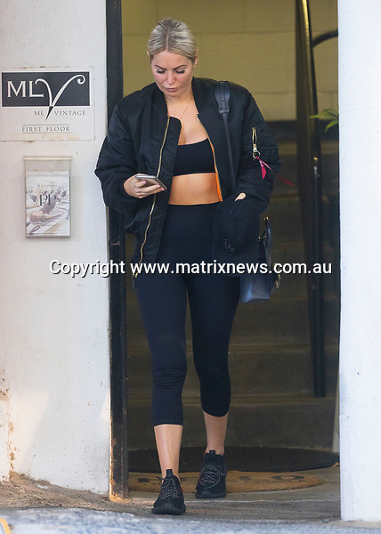 13 February 2018 Melbourne AUSTRALIA<br /> WWW.MATRIXNEWS.COM.AU<br /> <br /> EXCLUSIVE PICTURES<br /> <br /> Keira Maguire leaving a South Yarra gym in Melbourne.