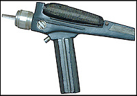 BNPS.co.uk (01202 558833)<br /> Pic: Propworx/BNPS<br /> <br /> ***Please Use Full Byline***<br /> <br /> The Phaser prop gun.<br /> <br />  A super-rare prop gun from the original series of Star Trek has emerged for sale for a staggering &pound;40,000 almost 50 years after it first appeared on screen.<br /> <br /> The fibreglass prop, known as a phaser, is one of only two known to exist from the ground-breaking show which followed the adventures of William Shatner as maverick captain James T. Kirk and his crew on the starship Enterprise.<br /> <br /> Star Trek is now considered one of the greatest television programmes ever made, and original props demand a high price among its legion of fans around the world.<br /> <br /> The prop has been described as &quot;an incredible piece of television history&quot; and is tipped to fetch $60,000 - around &pound;40,000 - when it is auctioned at Propworx in Los Angeles.