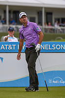 Nick Taylor (CAN) watches his tee shot on 15 during round 1 of the AT&T Byron Nelson, Trinity Forest Golf Club, Dallas, Texas, USA. 5/9/2019.<br /> Picture: Golffile | Ken Murray<br /> <br /> <br /> All photo usage must carry mandatory copyright credit (© Golffile | Ken Murray)