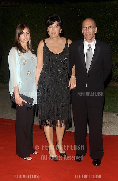 Producer JEFFREY KATZENBERG & family at the party for Shrek 2 at the Chateau la Napoule, Cannes, France, following the gala screening of the movie in the Cannes Film Festival..May 15, 2004
