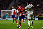 Joao Felix of Atletico de Madrid and Carlos Henrique Casimiro of Real Madrid during La Liga match between Atletico de Madrid and Real Madrid at Wanda Metropolitano Stadium{ in Madrid, Spain. {iptcmonthname} 28, 2019. (ALTERPHOTOS/A. Perez Meca)