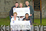 PRESENTATION: Two cheques were presented to St John's Ashe Street, Tralee and Tralee Mental Health Service on Tuesday at St John's Ashes Tralee, by Padraig Dennehy and Roel Villons. Front l-r: Catherine O'Connor(Mental Health Service) and Roel Villones(entertainer). Back l-r: Padraig Dennehy, Jenny Sheehy (Mental Health) and Rev Joe Hardy (St John's Ashe Street Tralee).....
