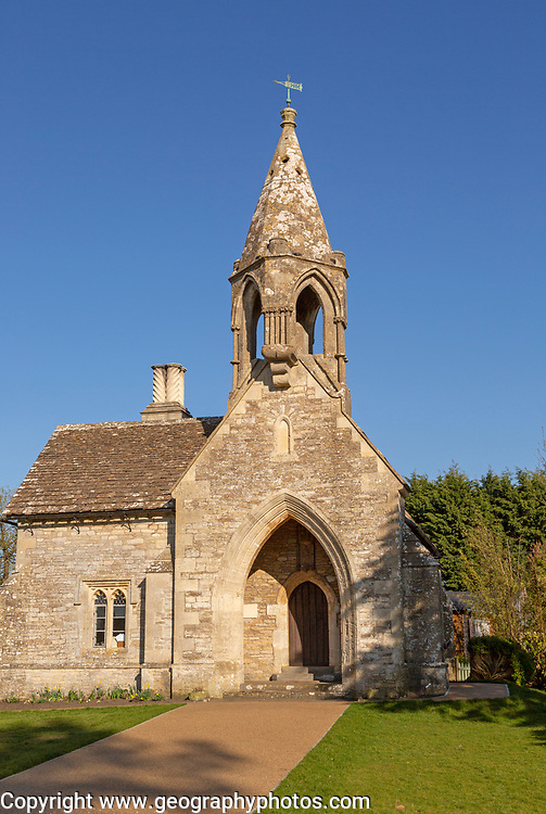 Sevington Victorian village school, Sevington , near Grittleton, Wiltshire, England, UK built  1848 by Joseph Neeld