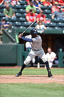 ***Temporary Unedited Reference File***Northwest Arkansas Naturals right fielder Orlando Calixte (7) during a game against the Springfield Cardinals on April 27, 2016 at Hammons Field in Springfield, Missouri.  Springfield defeated Northwest Arkansas 8-1.  (Mike Janes/Four Seam Images)