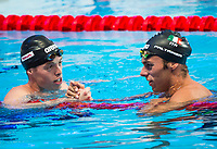 PALTRINIERI Gregorio ITA gold medal and JAEGER Connor USA silver medal<br /> Swimming - Men's 1500m freestyle final <br /> Day 17 09/08/2015<br /> XVI FINA World Championships Aquatics Swimming<br /> Kazan Tatarstan RUS July 24 - Aug 9 2015 <br /> Photo Giorgio Perottino/Deepbluemedia/Insidefoto