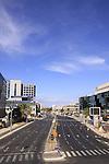 Israel, Herzliya, deserted Business District on Yom Kippur