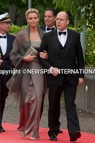 """PRINCE ALBERT and CHARLENE WITTSTOCK.Pre-Wedding Dinner hosted by the Government of Sweden in honour of H.R.H Crown Princess Victoria and Mr Daniel Westling at Eric Ericsonhallen was attended by Royalty from all over the world. Stockholm_18/06/2010..Mandatory Photo Credit: ©Dias/Newspix International..**ALL FEES PAYABLE TO: """"NEWSPIX INTERNATIONAL""""**..PHOTO CREDIT MANDATORY!!: NEWSPIX INTERNATIONAL(Failure to credit will incur a surcharge of 100% of reproduction fees)..IMMEDIATE CONFIRMATION OF USAGE REQUIRED:.Newspix International, 31 Chinnery Hill, Bishop's Stortford, ENGLAND CM23 3PS.Tel:+441279 324672  ; Fax: +441279656877.Mobile:  0777568 1153.e-mail: info@newspixinternational.co.uk"""