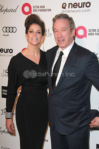 WEST HOLLYWOOD, CA - FEBRUARY 22: Tim Allen and Jane Allen at the 2015 Elton John AIDS Foundation Oscar Party in West Hollywood, California on February 22, 2015. Credit: David Edwards/DailyCeleb/MediaPunch