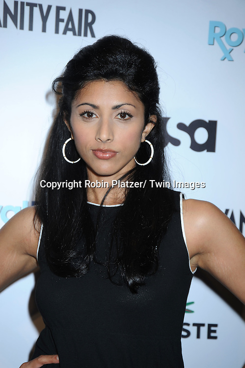 "Reshma Shetty of ""Royal Pain""  posing at the USA Network and Vanity Fair celebration for the Second Season of  ""Royal Pains"" at the Lacoste Fifth Avenue Store on June 1, 2010 in New York City."