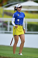PATTAYA, THAILAND - FEBRUARY 22: Pannarat Thanapolboonyaras of Thailand on the 18th green during the second round of the Honda LPGA Thailand 2019 at Siam Country Club Pattaya (Old Course), Pattaya, Thailand on February 22, 2019.<br /> .<br /> .<br /> .<br /> (Photo by: Naratip Golf Srisupab/SEALs Sports Images)<br /> .<br /> Any image use must include a mandatory credit line adjacent to the content which should read: Naratip Golf Srisupab/SEALs Sports Images