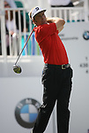 6 September 2008:    Stuart Appleby tees off on the first hole in the second round of play at the BMW Golf Championship at Bellerive Country Club in Town & Country, Missouri, a suburb of St. Louis, Missouri.  The BMW Championship is the third event on the PGA's Fed Ex Tour.