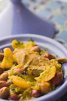 Afrique/Afrique du Nord/Maroc/Rabat: Hotel - Maison d'Hote Villa Mandarine - Tajine de pigeon aux oignons et safran