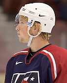Justin Abdelkader (Michigan State University - Detroit Red Wings)  The US Blue team lost to Sweden 3-2 in a shootout as part of the 2005 Summer Hockey Challenge at the National Junior (U-20) Evaluation Camp in the 1980 rink at Lake Placid, NY on Saturday, August 13, 2005.
