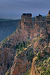 Morning light on eroded cliffs of the South Rim, Desert View, Grand Canyon Nat. Pk., ARIZONA
