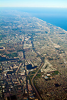 Aerial View, Ft. Lauderdale, Port Everglades Florida,