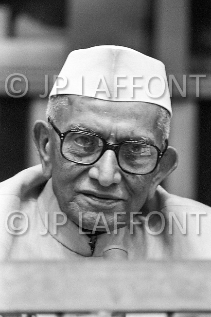 09 Jun 1978, New York, New York, USA --- Indian Prime Minister Morarji Desai speaking at a special session of peace talks during the 10th UN General Assembly on Disarmament. The talks took place between 23rd May and 30th June 1978. --- Image by © JP Laffont