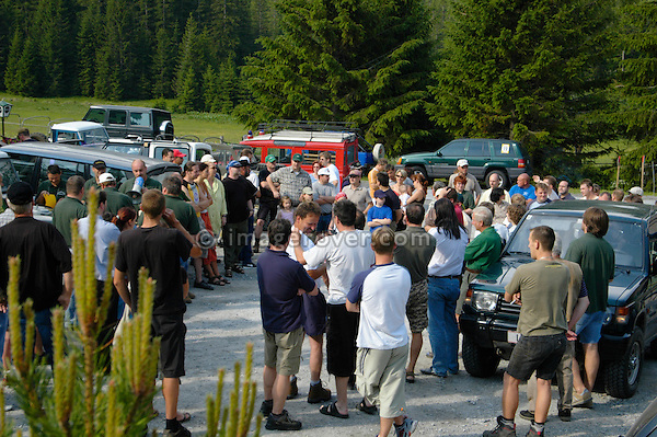 Austria, Boesenstein Offroad Classic, Hohentauern, Steiermark, 25-26.06.2005. Initial briefing. --- No releases available. Automotive trademarks are the property of the trademark holder, authorization may be needed for some uses.