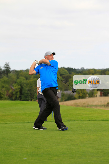 Raymond Hayes (Lisselan) on the 6th tee during the AIG Jimmy Bruen Shield Final between Lisselan &amp; Waterford in the AIG Cups &amp; Shields at Carton House on Saturday 20th September 2014.<br /> Picture:  Thos Caffrey / www.golffile.ie