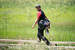 SUGAR GROVE, IL - MAY 29: Rico Hoey of the University of Southern California walks between shots during the Division I Men's Golf Individual Championship held at Rich Harvest Farms on May 29, 2017 in Sugar Grove, Illinois. (Photo by Jamie Schwaberow/NCAA Photos via Getty Images)