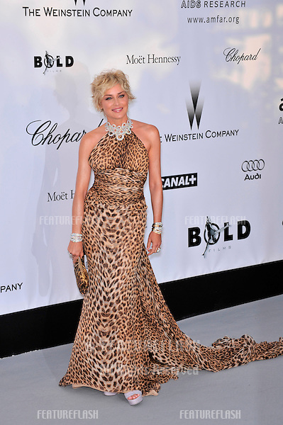 Sharon Stone at amfAR's Cinema Against AIDS 2008 Gala at Le Moulin de Mougins restaurant. The event is part of  the 61st Annual International Film Festival de Cannes. .May 22, 2008  Cannes, France..Picture: Paul Smith / Featureflash