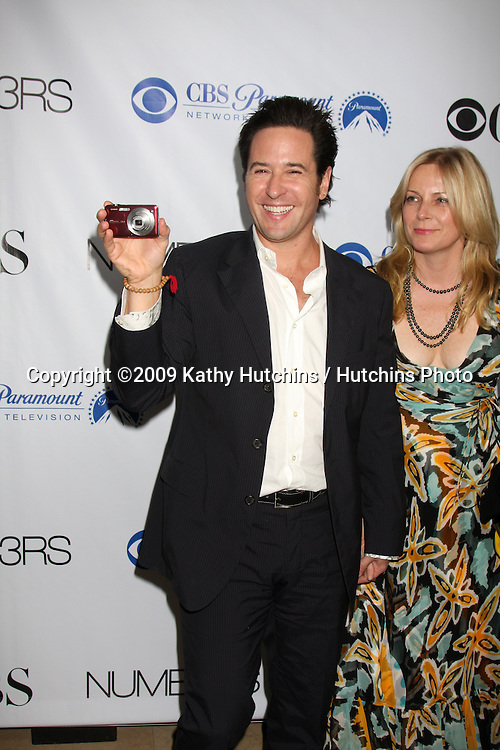 Rob Morrow  & wife arriving at the Numb3rs 100th Episode Party at the Sunset Tower Hotel in West Hollywood,  California on April 21, 2009.©2009 Kathy Hutchins / Hutchins Photo....                .