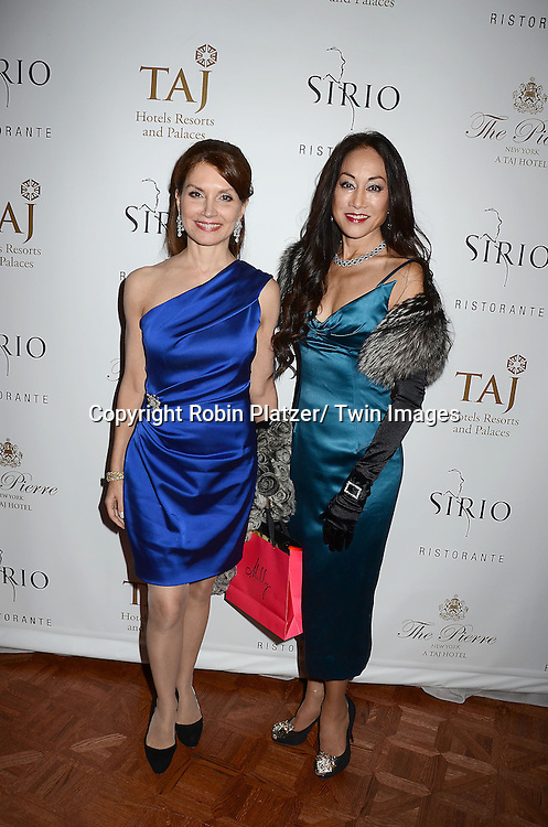 Jean Shafiroff and Lucia Wong Gordon attends the Sirio Ristorante New York opening in the Pierre Hotel, a TAJ Hotel on October 24, 2012 in New York City. Sirio Maccioni hosted the party