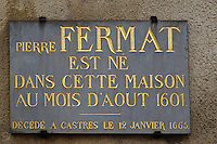 Europe/France/Midi-Pyérénées/82/Tarn-et-Garonne/Beaumont-de-Lomagne: Maison Natale de Pierre Fermat