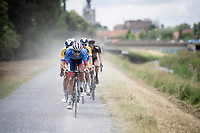 Niki Terpstra (NED/Total - Direct Energie) leading the way<br /> <br /> Dwars door het Hageland 2019 (1.1)<br /> 1 day race from Aarschot to Diest (BEL/204km)<br /> <br /> ©kramon