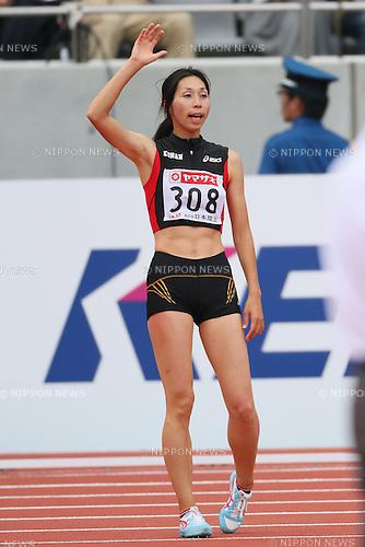 Miyuki Fukumoto (JPN), <br /> JUNE 9, 2013 - Athletics : <br /> The 97th Japan Track &amp; Field National Championships <br /> Women's High Jump Final <br /> at Ajinomoto Stadium, Tokyo, Japan. <br /> (Photo by YUTAKA/AFLO SPORT)