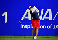 Inbee Park, of Korea, plays her shot from the first tee during the third round of the ANA Inspiration at the Mission Hills Country Club in Palm Desert, California, USA. 3/31/18.<br /> <br /> Picture: Golffile | Bruce Sherwood<br /> <br /> <br /> All photo usage must carry mandatory copyright credit (&copy; Golffile | Bruce Sherwood)during the second round of the ANA Inspiration at the Mission Hills Country Club in Palm Desert, California, USA. 3/31/18.<br /> <br /> Picture: Golffile | Bruce Sherwood<br /> <br /> <br /> All photo usage must carry mandatory copyright credit (&copy; Golffile | Bruce Sherwood)