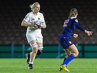 Tamara Taylor in action, England Women v France Women in an Old Mutual Wealth Series, Autumn International match at Twickenham Stoop, Twickenham, England, on 9th November 2016. Full Time score 10-5