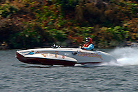 "Tim Settle, F-77 ""Barracuda"", ( 1946 266 class Wickins hydroplane)"