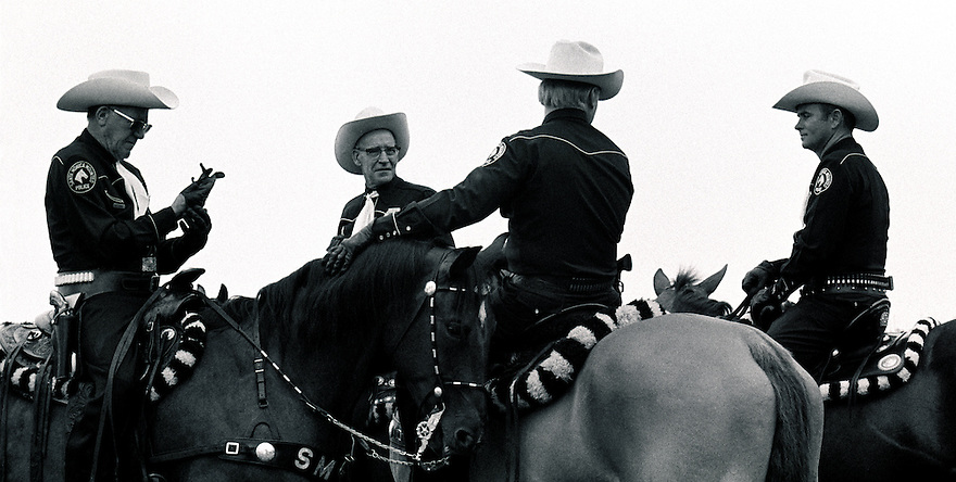 Mounted Police Santa Barbara, California 1975