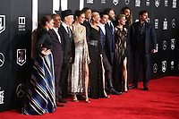 LOS ANGELES, CA - NOVEMBER 13: Diane Lane, Joe Morton, J.K. Simmons, Gal Gadot, Ray Fisher, Ben Affleck, Ezra Miller, Amber Heard, Jaason Momoa and Henry Cavill at the Justice League film Premiere on November 13, 2017 at the Dolby Theatre in Los Angeles, California. Credit: Faye Sadou/MediaPunch